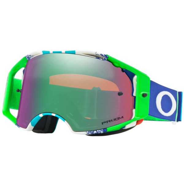 OAKLEY Airbrake MX Pinned Race Green Blue / Prizm MX Jade