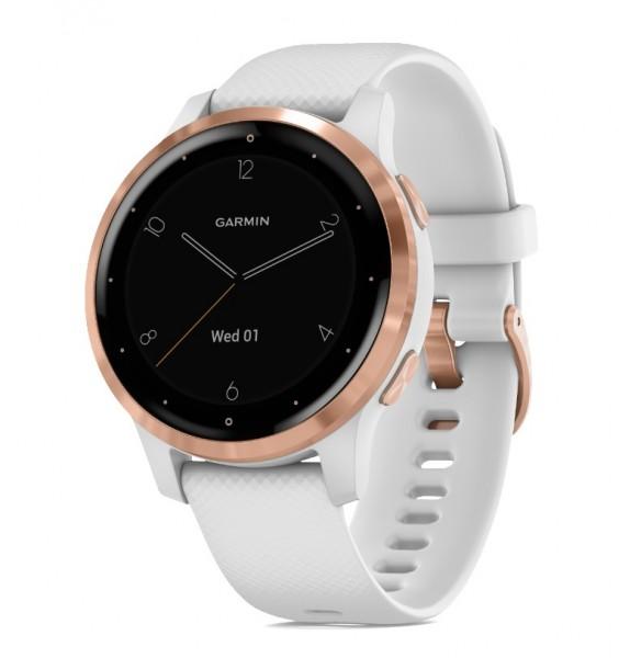 GARMIN vívoactive 4S - GPS Fitness Smartwatch - Weiss/Rosegold