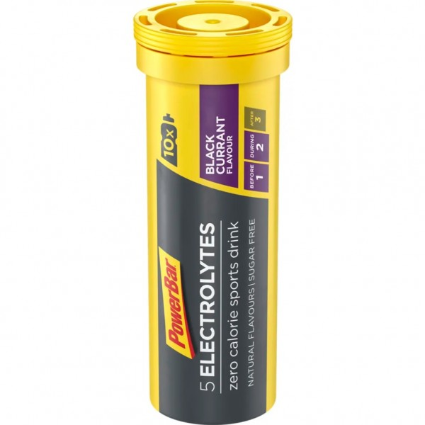 POWERBAR 5 Electrolytes Sports Drink - Black Currant - 10x4,2g