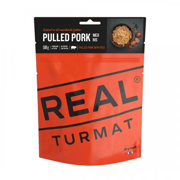 REAL TURMAT Pulled Pork with Rice - Schweinefleisch mit Reis - 10 Pack