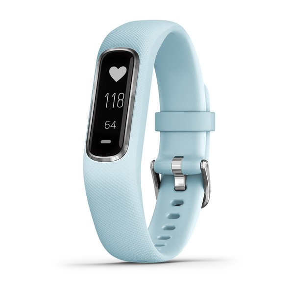 GARMIN Vivosmart 4 - Smartwatch - S/M - Hellblau/Silber