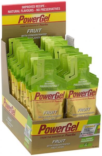 POWERBAR PowerGel Fruit- Mango Passionfruit (mit Koffein)- 24x41g Box