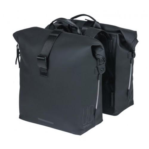 BASIL Doppelpacktasche SoHo Nordlicht MIK - schwarz