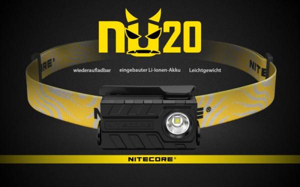 NITECORE - LED-Stirnlampe - 'NU20' - 360 Lumen