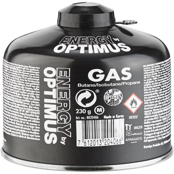 OPTIMUS Universal Gas Tactical- Schraubgaskartusche- 230g- schwarz