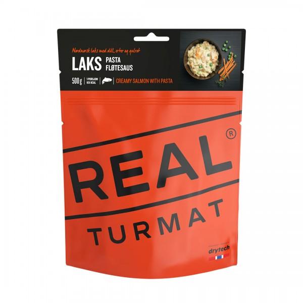 REAL TURMAT Lachs mit Pasta und Sahnesauce - Expeditionsnahrung- 10 Pack