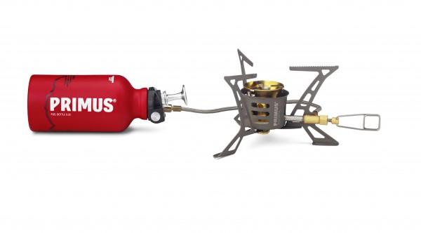 PRIMUS OmniLite TI - Mehrstoffkocher - 2,6kW mit Brennstoffflasche