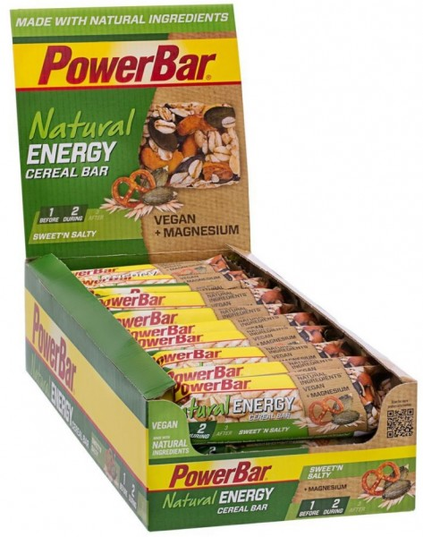 POWERBAR Nutural Energy- Riegel - sweet'n salty - VEGAN - 24 Riegel 40g