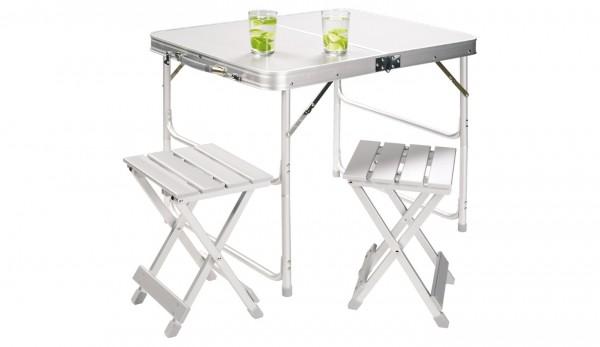 GRAND CANYON Alu Koffer-Tisch für 2 Personen - 60 x 80 cm