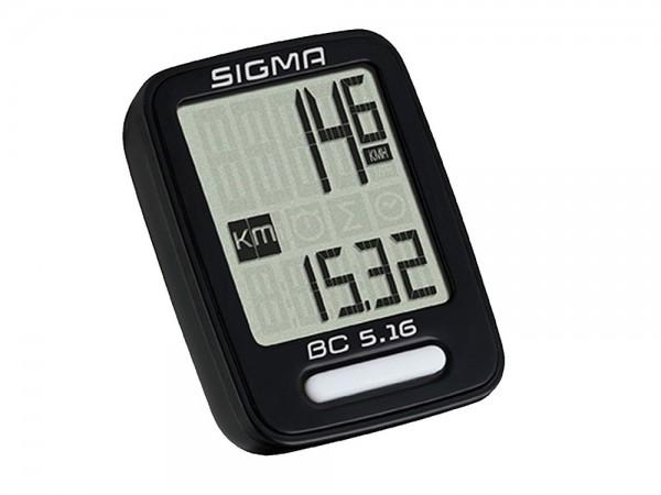 SIGMA BC 5.16 Fahrradcomputer Kabelübertragung mit Radsensor