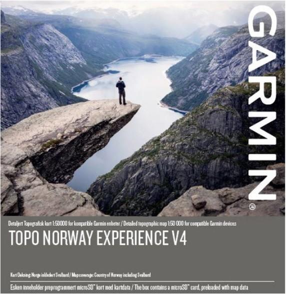 GARMIN Topo Norway Experience v4 - microSD/SD - Karte