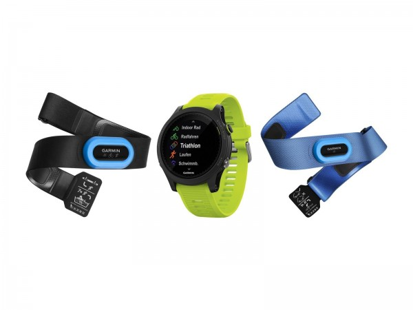 GARMIN Forerunner 935 Tri Bundle, schwarz/gelb - Triathlon-Watch