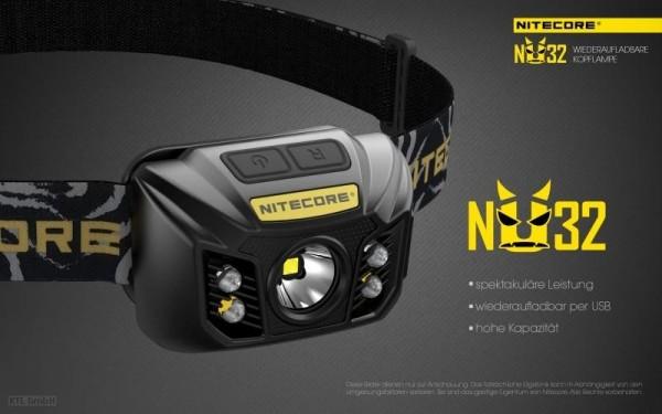 NITECORE - LED-Stirnlampe - 'NU32' - 400 Lumen
