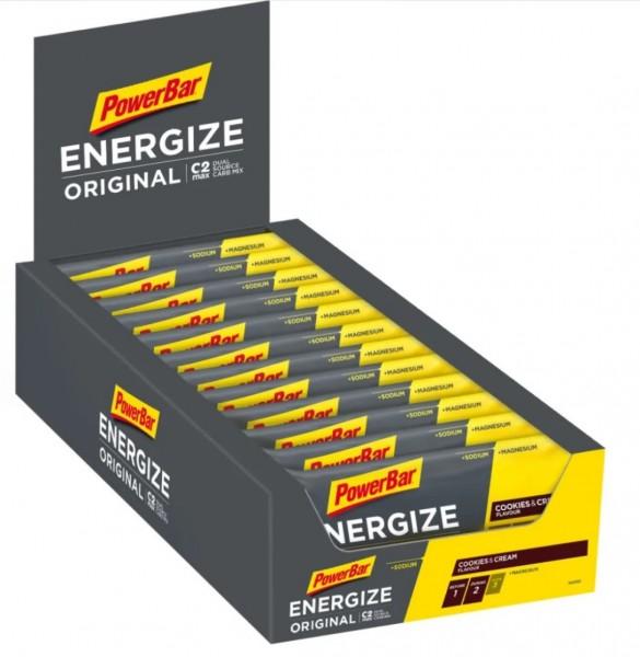 POWERBAR Energize Original - chocolate - 25 Riegel 55g Box