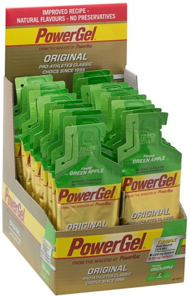 POWERBAR PowerGel Fruit - Green Apple (mit Koffein) - 24x41g Box
