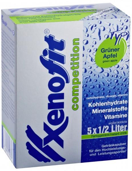 XENOFIT Competition - Grüner Apfel - Getränkepulver - 5 x 500 ml
