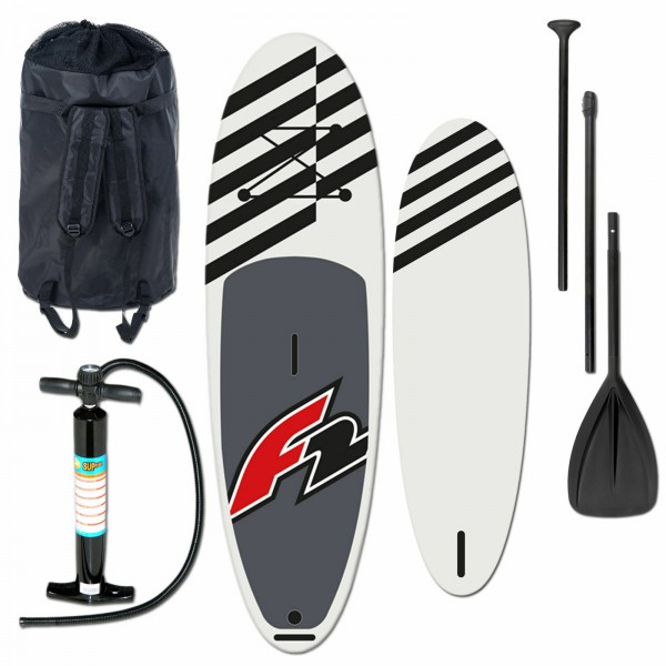 "F2 ALLROUND INFLATABLE SUP SET 11,6"" BLACK + PUMPE & RUCKSACK"