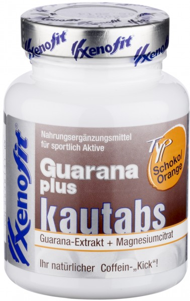 XENOFIT Guarana plus Kautabletten - Schoko/Orange Geschmack