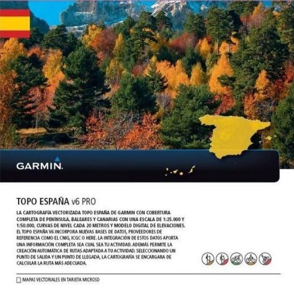 GARMIN Topo España v6 PRO - microSD/SD - Spanien Karte