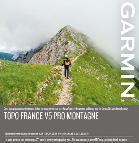 GARMIN Topo France v5 PRO - Montagne - microSD/SD - Karte