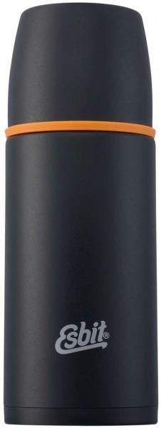 ESBIT Isolierflasche 0,75 L - Schwarz - Thermoflasche aus Edelstahl