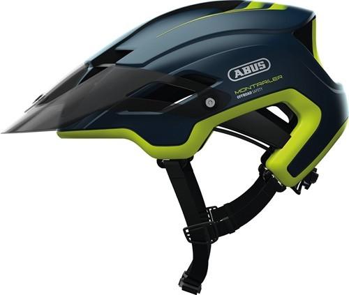 """ABUS """"MonTrailer"""" All-Mountain Helm Farbe blau-grün"""