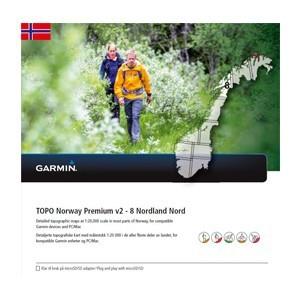 Garmin Topo Norwegen Premium 8 - Nordland Nord (microSD/SD) - Karte