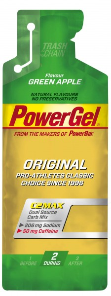POWERBAR PowerGel Fruit - Green Apple (mit Koffein) - 41g