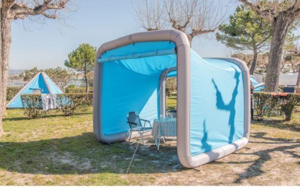 GENTLETENT Box Camping Teilzelt - blau - Breite 240