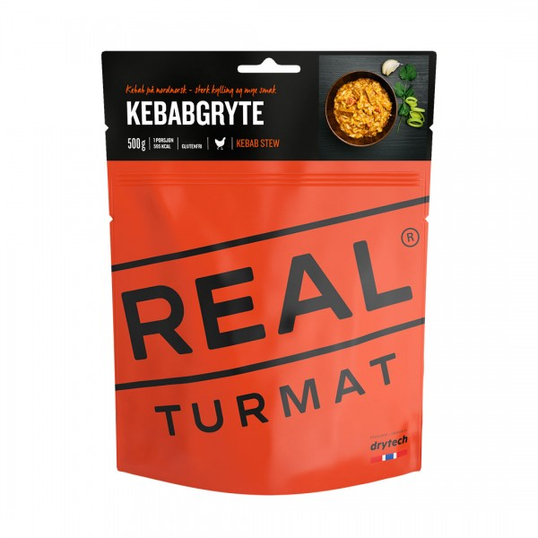 REAL TURMAT Kebabpfanne - Hähnchenfleisch - Expeditionsnahrung - 10 Pack