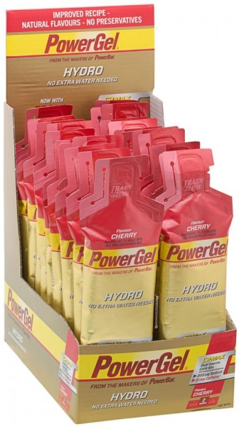 POWERBAR PowerGel Hydro - Cherry (mit Koffein) - 24x67g Box