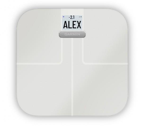 GARMIN Index S2 Waage- digitale WiFi Körperwaage- Weiß