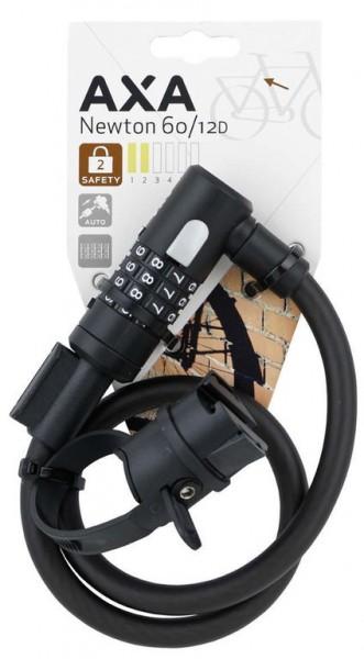 AXA Newton 60/12 Kabelzahlenschloss- Länge 60cm- Ø12mm- schwarz