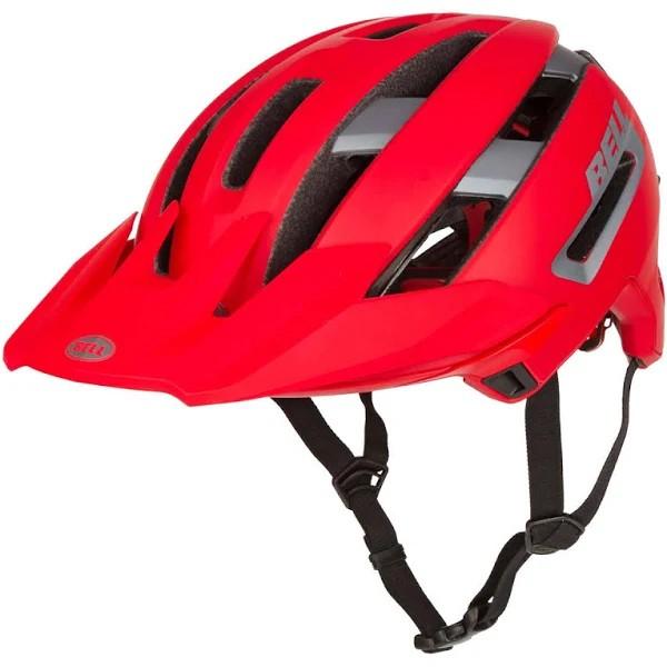BELL Super Air Spherical MTB Helm red-grey