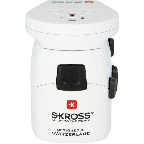 SKROSS World Pro World USB Sch Steckeradapter - weiß
