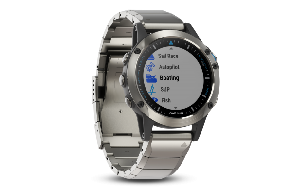 GARMIN quatix 5 Saphir Edition mit Metallarmband- Wassersport Smartwatch