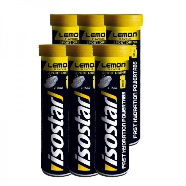ISOSTAR Powertabs Lemon - 6 x 120 g - Brausetabletten
