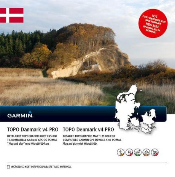 GARMIN Topo Danmark v4 PRO - microSD/SD - Karte