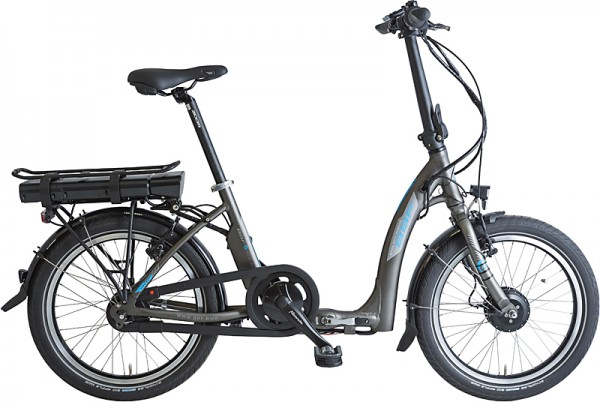 BBF Deep Entry Ansmann E-Bike Faltrad Damen 7-Gang-anthrazit