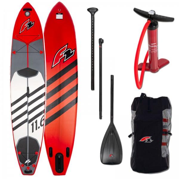 F2 Tour Inflatable SUP Board- 11,6 Ultra Light inkl. Paddel+ Pumpe+ Bag