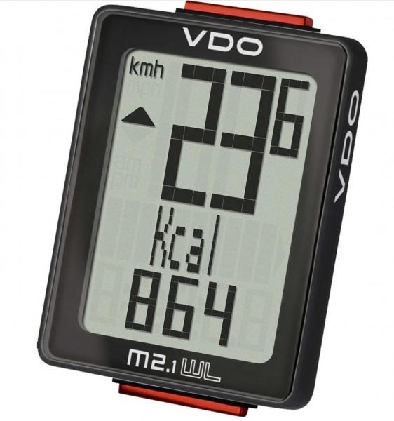 VDO M2.1 WL Fahrradcomputer - Fahrradtacho - drahtlos - schwarz
