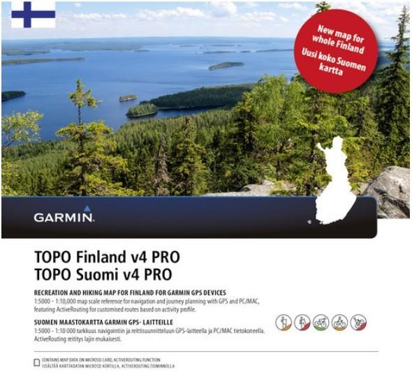 GARMIN Topo Finland v4 PRO - microSD/SD - Karte