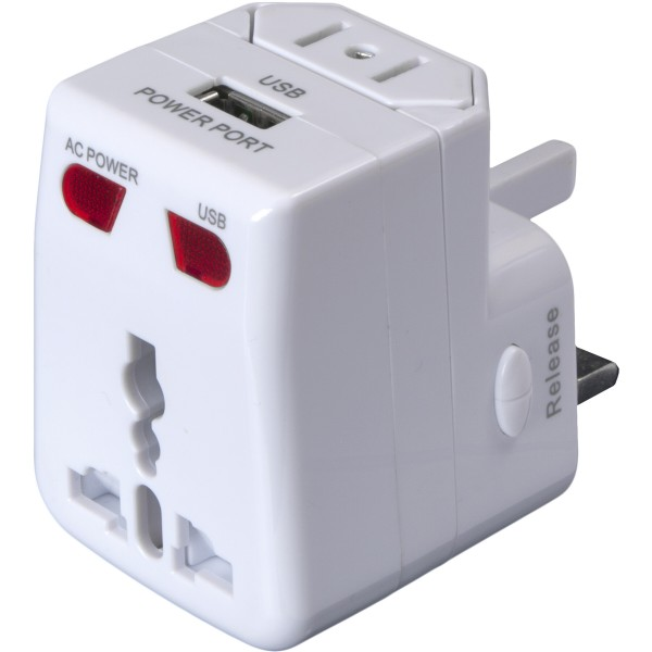 BASIC NATURE Universal USB Steckeradapter - weiß