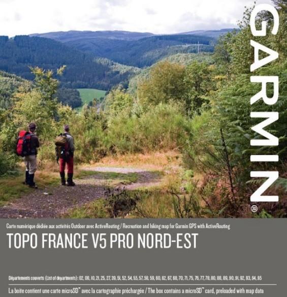 GARMIN Topo France v5 PRO - Nordosten - microSD/SD - Karte