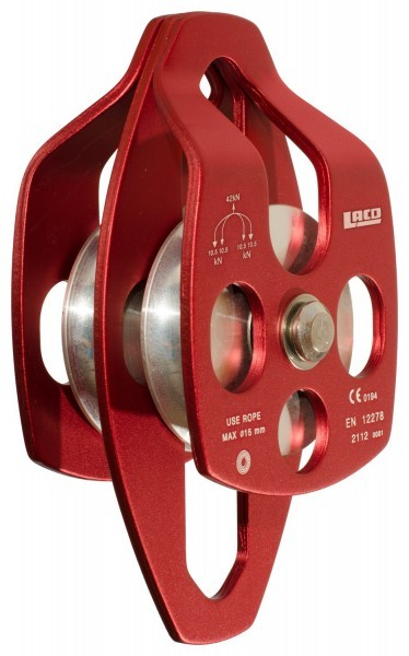 Lacd Mobile Double Pulley Big red - Seilrolle fürs Klettern