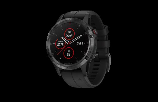 GARMIN Fenix 5 Plus Saphir- GPS - Multi - Smartwatch - Schwarz/Schwarz