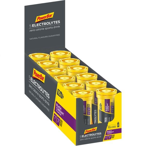 POWERBAR 5 Electrolytes Sports Drink - Black Currant - 12x42g Box