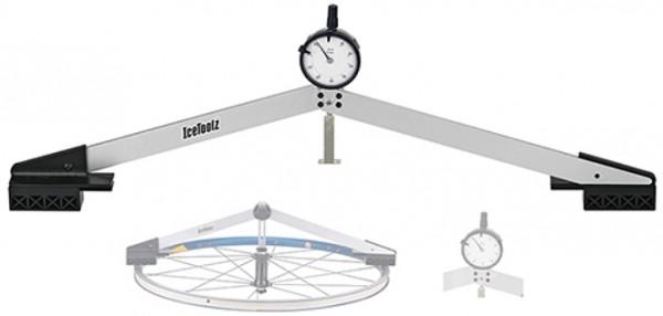 ICETOOLZ Zentrierlehre- faltbar- E313- Fahrradwerkzeug