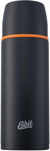 ESBIT Isolierflasche 1,0 L - Schwarz - Thermoflasche aus Edelstahl