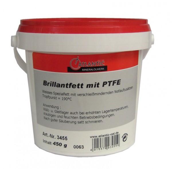 ATLANTIC Lagerfett Brillant Eimer - weiß PTFE - 450g